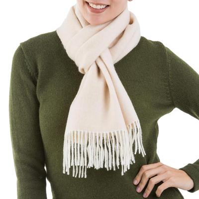 100% baby alpaca scarf, 'Lovely Buff' - 100% Baby Alpaca Wool Buff Scarf from Peru