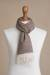 Men's 100% baby alpaca scarf, 'Lovely Chestnut' - Men's Brown 100% Baby Alpaca Wool Scarf from Peru (image 2f) thumbail