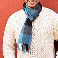 Featured review for Mens 100% baby alpaca scarf, Times Square