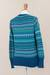 100% alpaca sweater, 'Azure Dreams' - Blue 100% Alpaca Pullover Sweater from Peru (image 2f) thumbail
