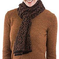 100% alpaca scarf, 'Floral Andes'