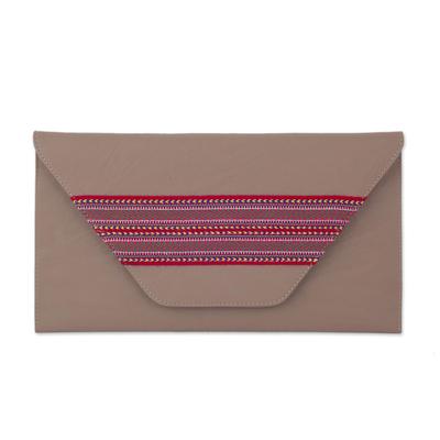 Novica Faux leather clutch, Eco Colors