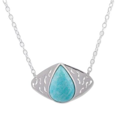 Amazonite pendant necklace,