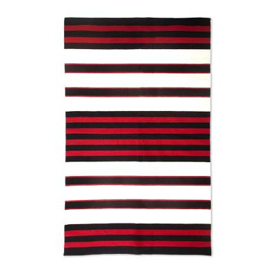 Unicef Market Striped 100 Wool Area Rug From Peru 3 5x5 5 Andean Hearth