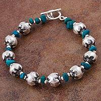 Chrysocolla beaded bracelet,