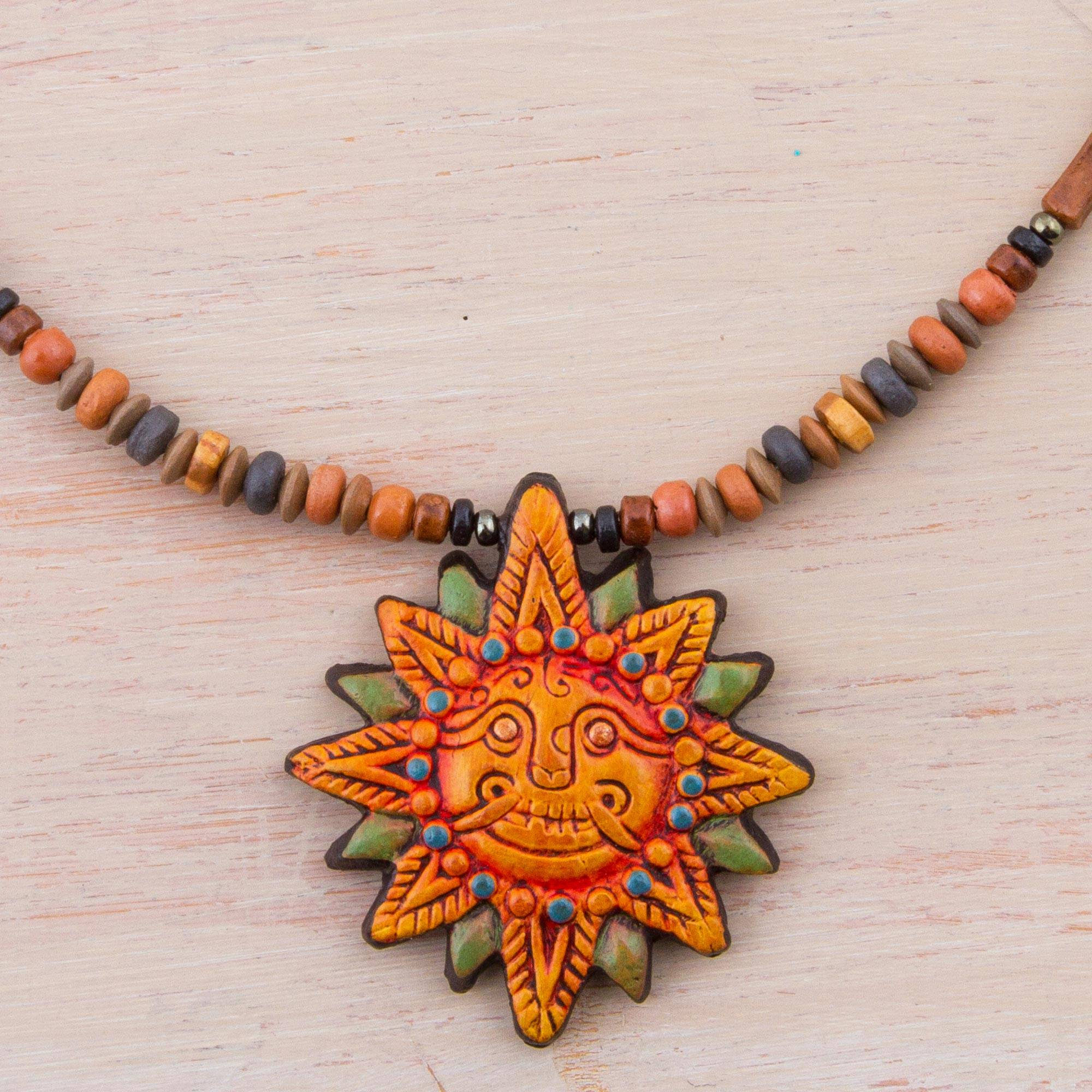 and necklace sun face pin moon layering