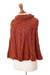 100% alpaca poncho, 'Russet Twist' - Hand Knit 100% Alpaca Poncho in a Russet Tone (image 2b) thumbail