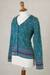 100% alpaca cardigan, 'Spirit of the Andes' - Soft Alpaca Button Up Cardigan Sweater from Peru (image 2d) thumbail