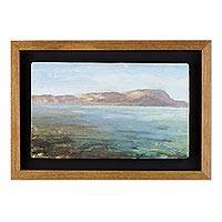 'Eternal Beauty' - Signed Impressionist Landscape Painting with Frame from Peru