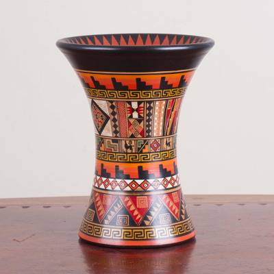 Ceramic decorative vase, Celestial Ceremony