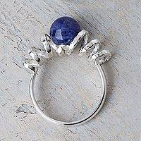 Sodalite cocktail ring, 'Andean Whirligig'