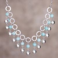 Amazonite waterfall necklace, 'Queen Beads'
