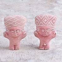 Papier mache figurines, 'Chancay Cuchimilcos' (pair) - Pair of Papier Mache Cuchimilco Figurines from Peru