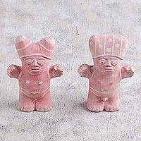 Papier mache figurines, 'Chancay Couple' (pair) - Papier Mache Cuchimilco Figrurines from Peru