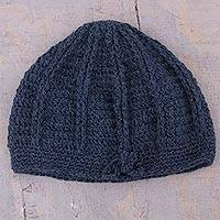 Featured review for 100% alpaca hat, Denim Softness