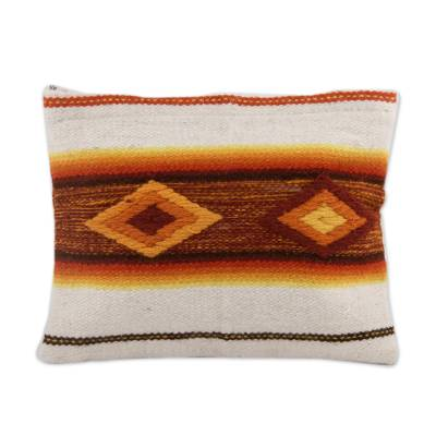 Multicolor Woven 100% Wool Cosmetic Bag from Peru