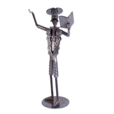 Handmade Steel Sculpture Don Quixote Reciting made in Peru - Don ...