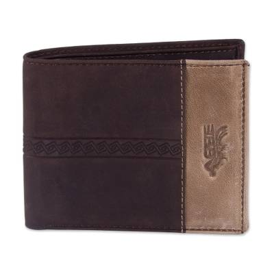 Handcrafted Leather Wallet in Espresso from Peru