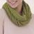 100% baby alpaca infinity scarf, 'Subtle Style in Warm Olive' - 100% Baby Alpaca Infinity Scarf in Warm Olive from Peru (image 2) thumbail