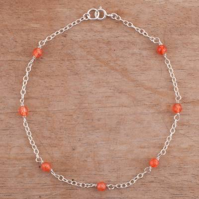 Novica Agate anklet, Leisurely Walk