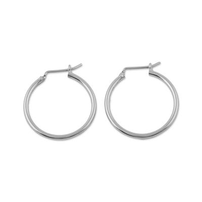 Sterling silver hoop earrings, 'Eternal Gleam' - High-Polish 925 Sterling Silver Hoop Earrings from Peru