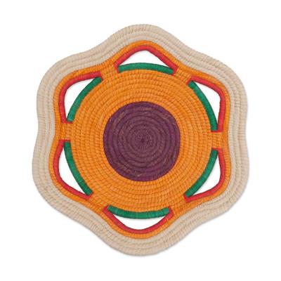 Handcrafted Chambira Tree Fiber Decorative Basket from Peru