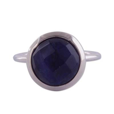 Sodalite and Sterling Silver Single Stone Ring from Peru