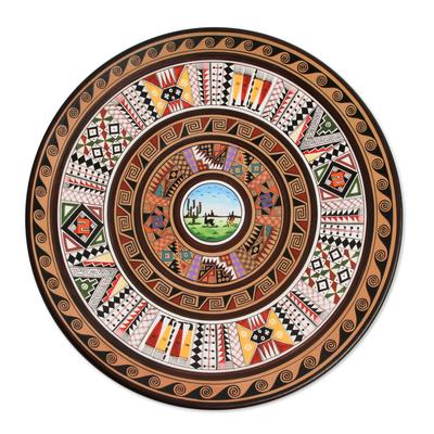 Cuzco plate, 'Andean Landscape' - Cuzco plate