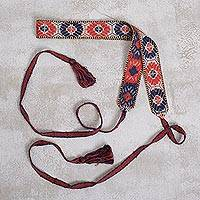 Cotton belt, 'Inca Loraypo' - Handwoven Cotton Belt with Loraypo Motifs from Peru