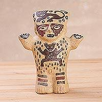 Ceramic statuette, 'Female Cuchimilco' - Archaeological Ceramic Statuette from Peru