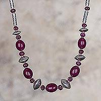 Quartz beaded necklace, 'Peruvian Pleasure' - Peruvian Quartz and Sterling Silver Beaded Necklace