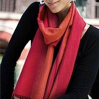 Featured review for Alpaca blend scarf, Rioja Flavor