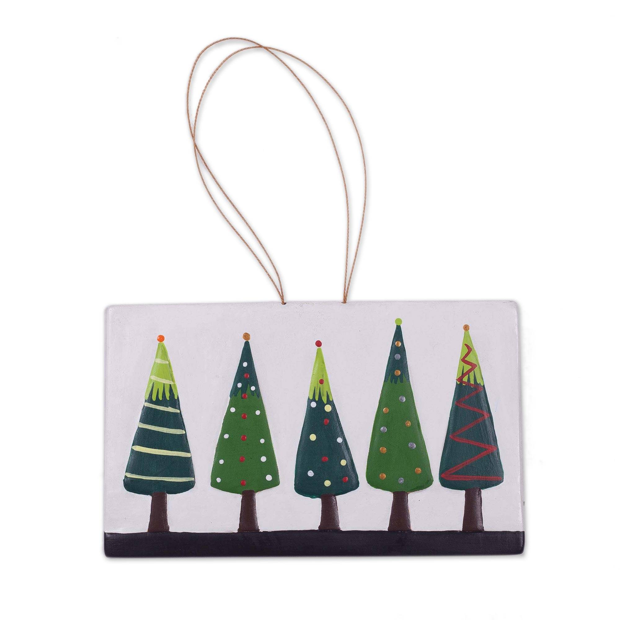 Unicef Market Hand Painted Ceramic Christmas Tree Wall Art From