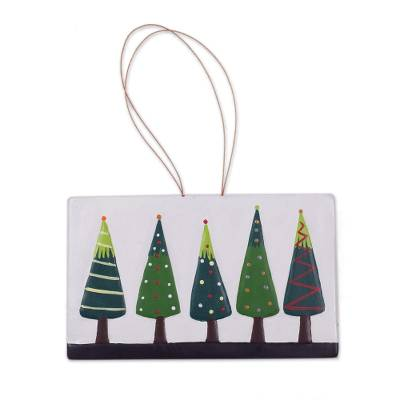Hand-Painted Ceramic Christmas Tree Wall Art from Peru - Charmed by ...