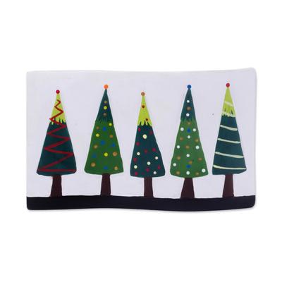 Ceramic Christmas Tree Decorative Accent from Peru