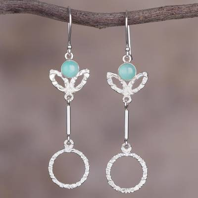 Novica Opal dangle earrings, Sweet Flight