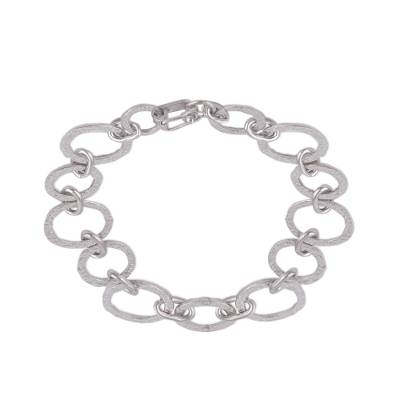 Hand Crafted Sterling Silver Link Bracelet from Peru