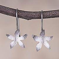 Sterling silver drop earrings, 'Vibrant Petals' - Artisan Crafted Sterling Silver Flower Earrings from Peru