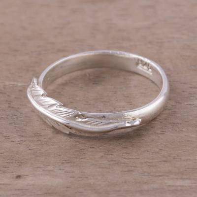 Novica Silver band ring, Treble Clef