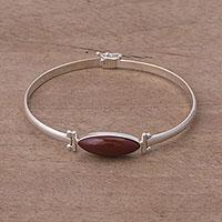 Jasper pendant bracelet, 'Fantastic Eye'