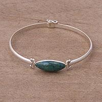 Chrysocolla pendant bracelet,