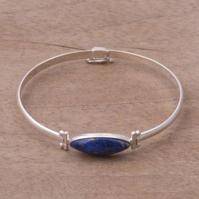 Silver bracelet with Lapis Lazuli