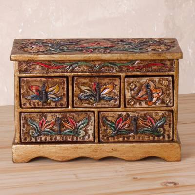 Surprising Handcrafted Wood And Leather Jewelry Box Ornate Beauty Creativecarmelina Interior Chair Design Creativecarmelinacom