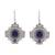 Sodalite filigree dangle earrings, 'Blue Mountain Chakana' - Sodalite Chakana Cross Filigree Dangle Earrings from Peru thumbail