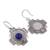 Sodalite filigree dangle earrings, 'Blue Mountain Chakana' - Sodalite Chakana Cross Filigree Dangle Earrings from Peru (image 2d) thumbail