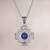 Sodalite filigree pendant necklace, 'Blue Mountain Chakana' - Sodalite Chakana Cross Filigree Pendant Necklace from Peru (image 2) thumbail