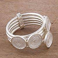 Sterling silver filigree cocktail ring, 'Strong Woman' - Sterling Silver Filigree Cocktail Ring from Peru