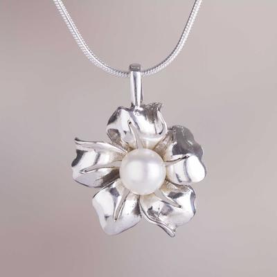 Novica Cultured pearl pendant necklace, Fabulous L