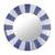 Glass wall mirror, 'Blue Rays' - Circular Glass Wall Mirror in Blue from Peru (image 2a) thumbail