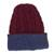 Reversible 100% alpaca hat, 'Warm and Snug' - Cranberry and Blue 100% Alpaca Reversible Knit Hat from Peru (image 2g) thumbail
